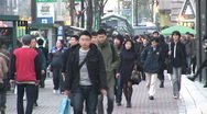 Stock Video Footage of Seoul Street