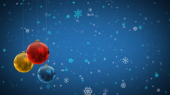 Christmas decoration background with Christmas balls - stock footage