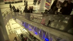 Moving Stairs In The Mall  (timelapse) Stock Footage