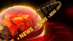 Hot World News - News Earth 48 (HD) Stock Footage