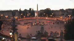 Timelapse total shot of Rome´s Piazza del Popolo Stock Footage