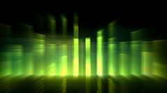 Music rhythm,green ray light,blur laser light,pulse.banquets,parties,speaker, Stock Footage