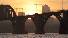 Sunset of an industrial city. II. Stock Footage
