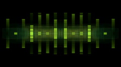 Music rhythm,green square ray light,pulse.laser,banquets,parties,speaker,stereo, Stock Footage