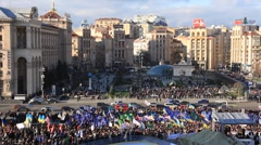 Protest meeting against Tax Codex, Maidan Nezalezhnosti, Kiev, Ukraine, November Stock Footage