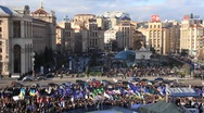 Stock Video Footage of Protest meeting against Tax Codex, Maidan Nezalezhnosti, Kiev, Ukraine, November