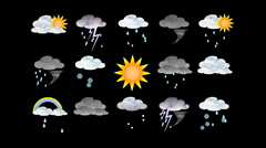 Stock Video Footage of weather forecast