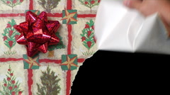 Unwrapping Gift 1956 Stock Footage