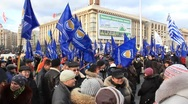Protest meeting against Tax Codex, Maidan Nezalezhnosti, Kiev, Ukraine, November Stock Footage