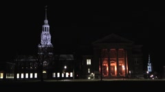 Dartmouth Time Lapse at Night Stock Footage