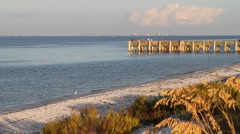 Fort Pickens Fishing Pier Stock Footage