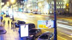 St. Petersburg, Russia, Nevsky Prospect time lapse Stock Footage