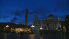 St Peters Square at Christmas Stock Footage
