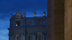 St Peters at Christmas - different angle Stock Footage