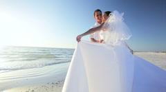 Dream Beach Wedding Stock Footage