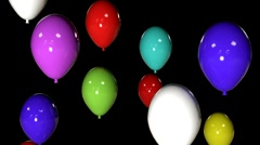 t302 PNG balloons happy birthday - stock footage