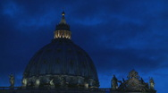 Stock Video Footage of St Peter's Dome at Christmas