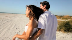 Healthy Couple Outdoors Stock Footage