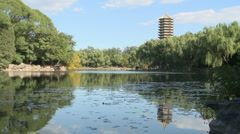 Peking University central lake Stock Footage