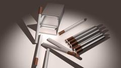 t302 smoking cigarettes nicotine cg cgi - stock footage