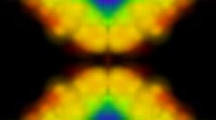 Psychedelic religon flower pattern,wedding background,smoke,  Corona,flare,solar Stock Footage