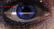 404 error security eye scan Stock Footage