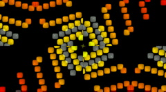 3d square shaped flare neon pattern background. Stock Footage