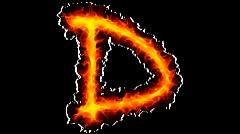 Fire letter D graffiti - stock footage