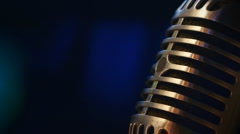 Microphone on Stage Stock Footage