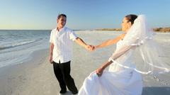 Romantic Beach Wedding Stock Footage