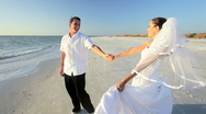 Stock Video Footage of Romantic Beach Wedding