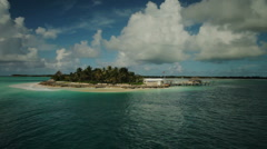 Aerial Panoramic of a Private Island Stock Footage