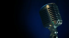 Microphone on Stage - stock footage