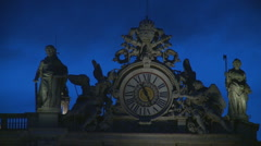 At Peters Clock, Rome - at Christmas time Stock Footage