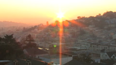 Stock Video Footage of Time Lapse Sunrise, San Francisco
