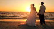 Sunset Wedding Kiss Stock Footage