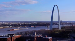 Mississippi and Arch Stock Footage