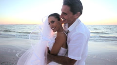 Dream Beach Wedding Stock Footage