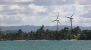 Stock Video Footage of Puerto Rico - HD 60p Beach Wind Electric Generator Turbines