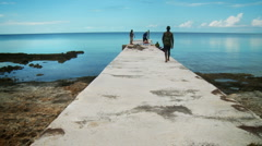 Old Fishing Dock in the Bahamas - stock footage