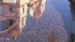 Santa Barbara Mission (fountain reflection) Stock Footage
