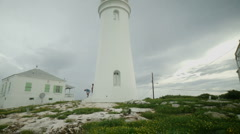 Rustic Island Lighthouse - stock footage