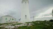 Rustic Island Lighthouse Stock Footage
