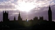 London Timelapse - Silhouette Stock Footage