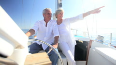 Mature Couple on Luxury Yacht Stock Footage
