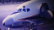 Airliner ready for takeoff-circa 1963 Stock Footage