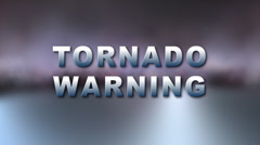 TORNADO WARNING Bumper - stock footage