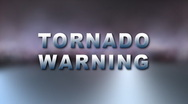 Stock Video Footage of TORNADO WARNING Bumper
