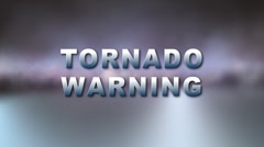 TORNADO WARNING w Alpha Stock Footage