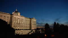 Spain. Madrid. Palacio Real Stock Footage
